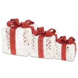Zestaw prezentów podświetlanych 3 szt
