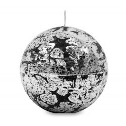 Qlowa świeca czarno-srebrna 10X10X10
