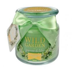 Świeca zapachowa w słoiku Wild Garden Jasmin & Lilac